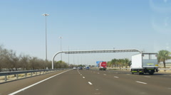Dubai city road trip car ride day light 4k uae Stock Footage