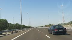 Dubai city day time car ride 4k uae Stock Footage
