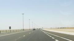 Uae day time desert road trip 4k uae Stock Footage