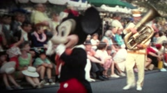 (8mm Vintage) 1968 Mickey Mouse Disney Parade - stock footage
