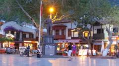 KAS, ANTALYA, TURKEY: Shops at narrow streets - stock footage