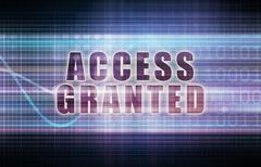 Stock Illustration of Access Granted