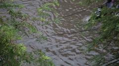 Flood after Monsoon Season Rain in Phnom Penh, Cambodia Stock Footage