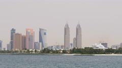 Dubai city day light tecom towers panorama 4k uae Stock Footage