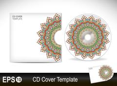 Cd cover design template.Vector illustration - stock illustration