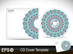 Stock Illustration of Cd cover design template.Vector illustration