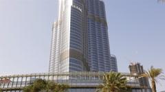 day light dubai city world highest building panorama 4k uae - stock footage