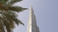 sun light dubai city world highest building top view 4k uae - stock footage