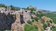 Ruins of the Nimrod fortress Stock Footage