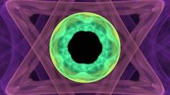 Symmetrical flower - fractal art design Stock Footage