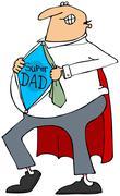 Super Dad - stock illustration