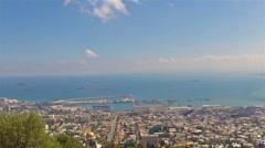 Panoramic View of Haifa Stock Footage