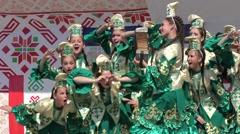 Folk Tatar dance Stock Footage