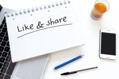 Like and Share Stock Illustration