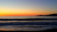 Sunset at Baker Beach, San Francisco, California Stock Footage