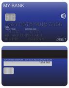 Stock Illustration of Debit Card Detail Blue