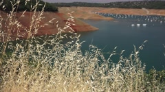 Hot and dry, Lake Oroville Stock Footage