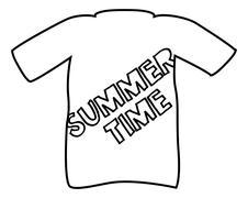 Summer T-Shirt Silhouette Stock Illustration