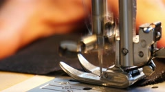 4k, sewing workshop, clothing repair 8 Stock Footage