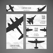Vector Airplanes Stock Illustration