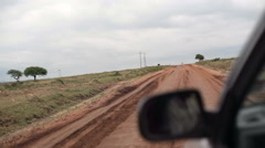 Driving on a bad bumpy dirt road, Samburu county, rural Kenya Stock Footage