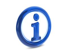 Balloon info symbol Stock Photos