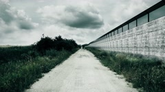 4K Country Green Border Fence against Illegal Immigrants 2 stylized Stock Footage