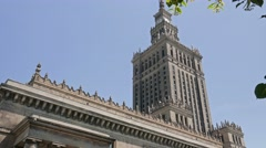 Warsaw, Poland. Palace of Culture and Science Stock Footage
