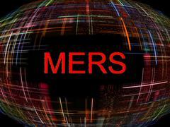MERS Virus Epidemic concept.Digitally generated image. Stock Illustration