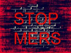 Stop MERS Virus Epidemic concept.Digitally generated image. Stock Illustration
