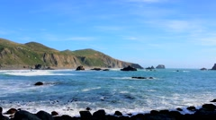 The Pacific Ocean at the Sonoma Coast State Park, California, USA Stock Footage