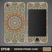 Phone case design. Vintage decorative elements - stock illustration