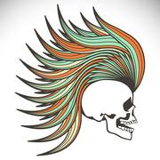 Vector skull - stock illustration