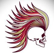 Vector skull Stock Illustration