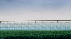 4K Country Green Border Fence against Illegal Immigrants 7 stylized Stock Footage