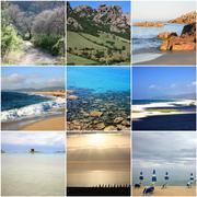 Collage of beautiful Sardinia Italy - stock photo