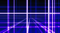 Abstract digital vertical and horizontal blue lines background Stock Footage