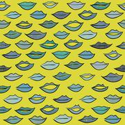 Kiss pattern. - stock illustration