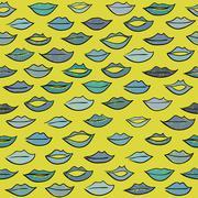 Kiss pattern. Stock Illustration