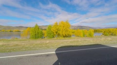 Lake Pukaki Scenic Drive By - stock footage