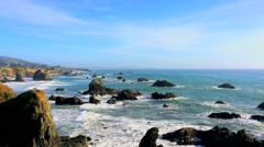 The Pacific Ocean at the Sonoma Coast State Park, California, USA - stock footage