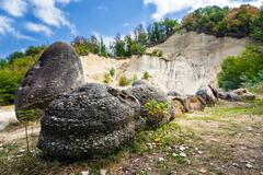 The Trovants of Costesti - The Living and Growing Stones of Romania Stock Photos