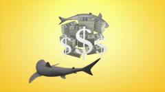 loan, shark, high, interest, rates, repayment, moneylender, debt. - stock footage
