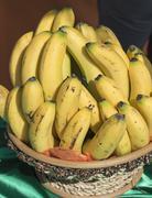 Bananas in a basket Stock Photos