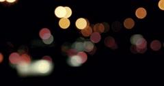 Blurred night city lights Stock Footage