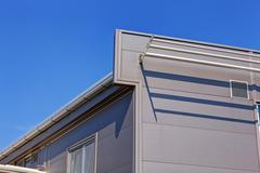 Aluminum facade on industrial building Stock Photos