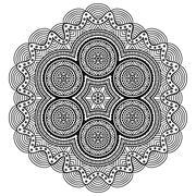 Stock Illustration of Mandala. Round Ornament Pattern