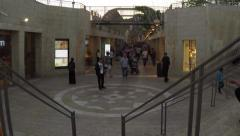Mamila Mall, Jerusalem; pedestrians walking Stock Footage