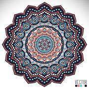 Mandala. Round Ornament Pattern Stock Illustration