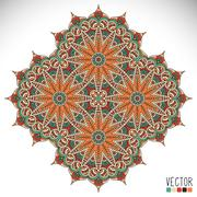 Mandala. Round Ornament Pattern - stock illustration